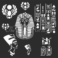 Egyptian stencil 30 x 30 cm
