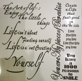 Art of life Stencil 30 x 30 cm