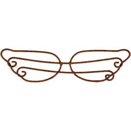 Metalen vleugel, b: 11,50 cm