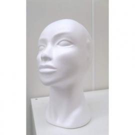 Styropor vrouwenhoofd 29 cm
