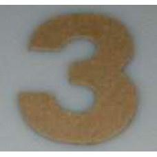 Paper Shape mini cijfers ± 9.5 nr 3