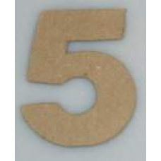 Paper Shape mini cijfers ± 9.5 nr 5