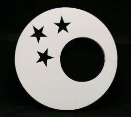 Cirkel met gat en sterren 50 cm