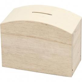 Spaarkist, afm 12,5x6,5x10 cm,