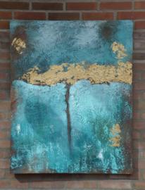 Schilderij met bladgoud