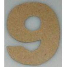 Paper Shape mini cijfers ± 9.5 nr 9