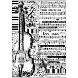 A4 Rice paper Sheet Music with violin