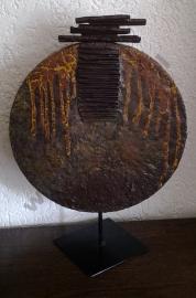 Bronskleurige decoratie schijf