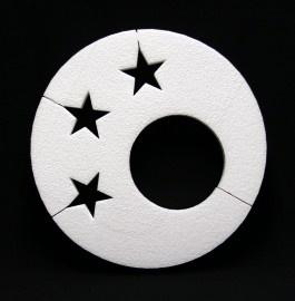 Cirkel met gat en sterren 30 cm