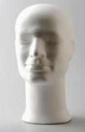Piepschuim hoofd man 30cm