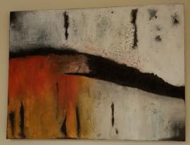 Schilderij Structure en Wax