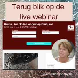 Terugblik op de Live Webinar 12 februari (jl.) Craquelé met Powertex