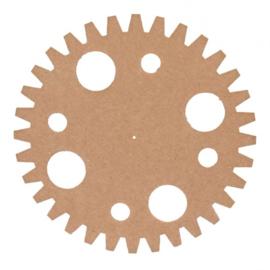 MDF tandwiel Ø 50 cm x 6 mm cirkels