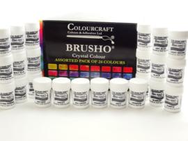 Brusho Starter pack assortiment 24 kleuren
