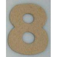 Paper Shape mini cijfers ± 9.5 nr 8