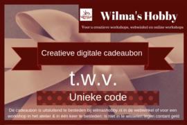 Digitale Creatieve Cadeaubon