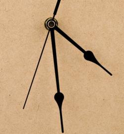Wijzers 110mm - zwart voor uurwerk