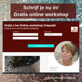 "GRATIS Live online workshop ""Craquelé"""