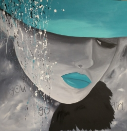 Dame met hoed