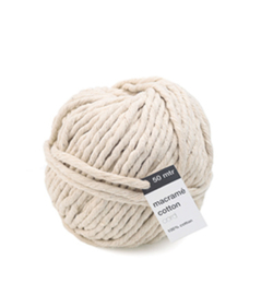 Macrame Cotton Cord, Ecru 	50mtr x 5mm