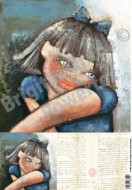 Laserprint A3 The girl with the blue eyes