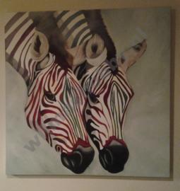 Zebra's  schilderen