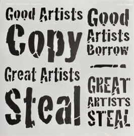 Good artists copy Stencil 30 x 30 cm