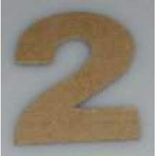 Paper Shape mini cijfers ± 9.5 nr 2