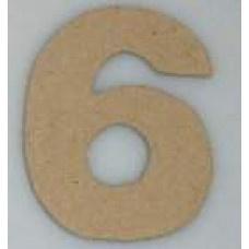 Paper Shape mini cijfers ± 9.5 nr. 6