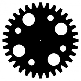 MDF tandwiel Ø15cm x 3mm cirkels