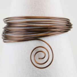 Aluminium wire 2mm 5m chocolate