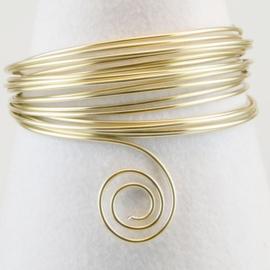 Aluminium wire 2mm 5m pearl