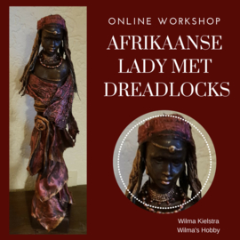 Online workshop Afrikaanse lady met dreadlocks