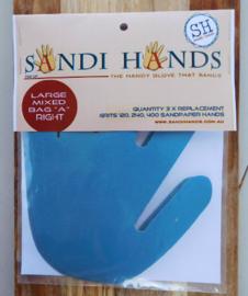 Vervangpakket Sandi Hands groot schuurpapier