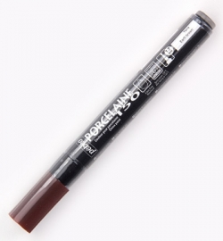 Pebeo Porselein stift Earth Brown 1.2 mm