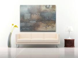 Mixed media schilderij