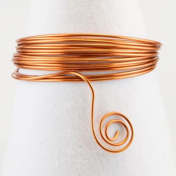 Aluminium wire 2mm 5m orange copper