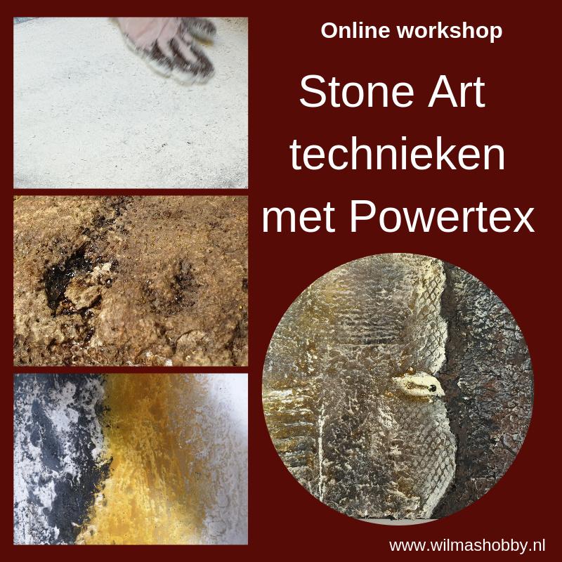 Stone Art technieken met Powertex