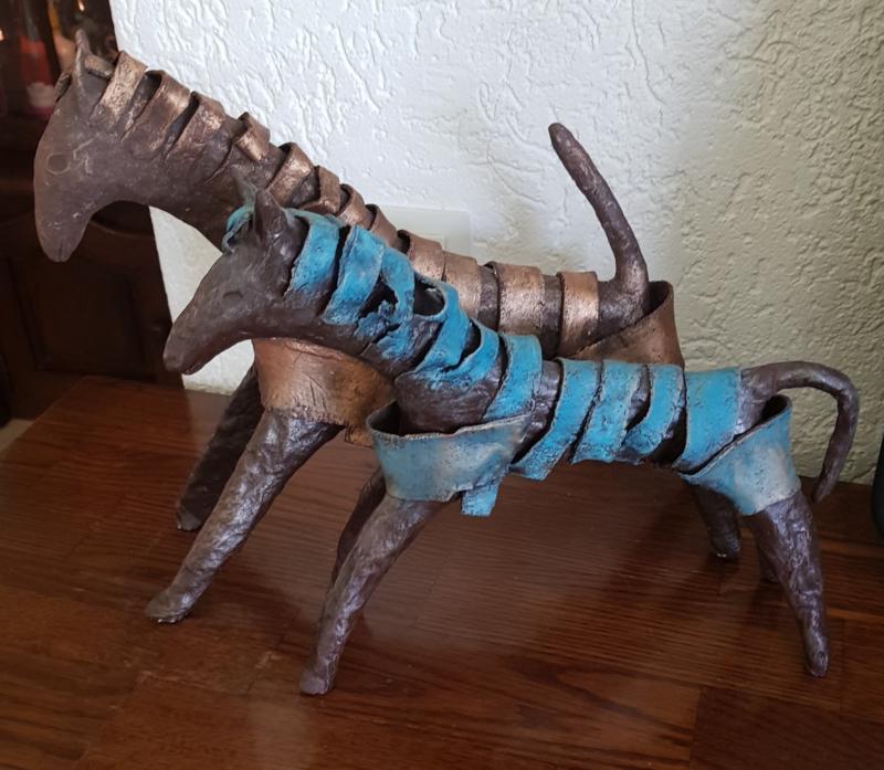 2x Deco paarden