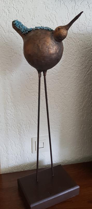 Vogel op hoge poten
