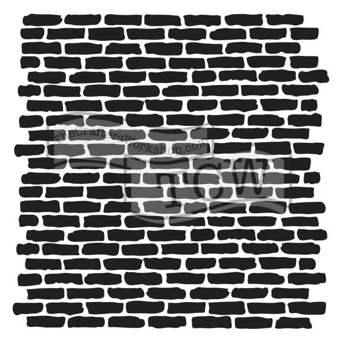 Stencil 30 x 30cm Micro Bricks