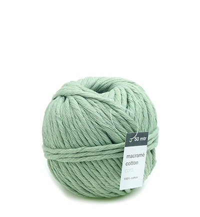 Macrame Cotton Cord, Mint 150mtr x 5mm