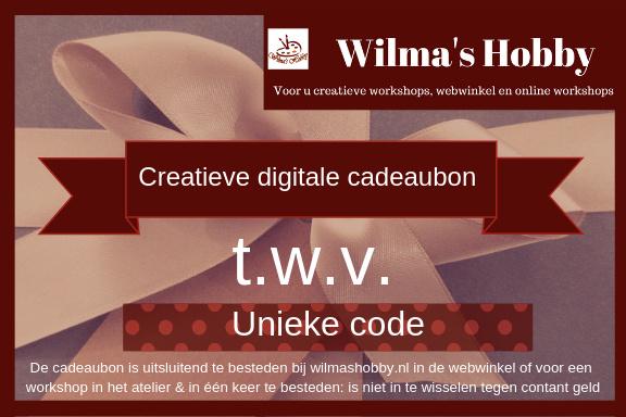 Digitale Creatieve Cadeaubon Wilmashobby