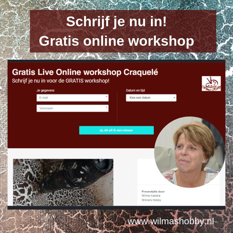 """GRATIS Live online workshop """"Craquelé"""""""