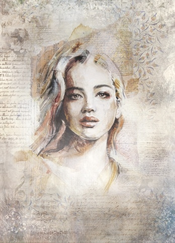 Silkpaper Portrait 1