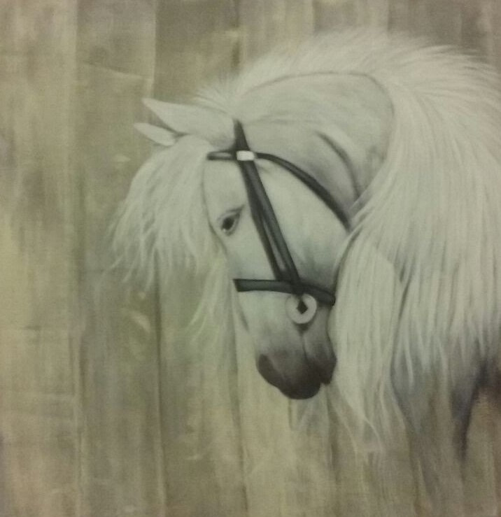 Spiksplinternieuw Schilderij paard | Mixed media - Schilderen | wilmashobby SF-75