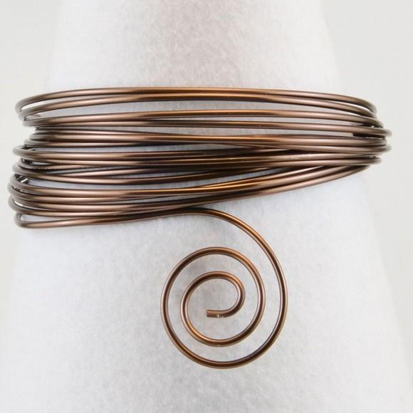 Aluminium wire 2mm 5m chocolate