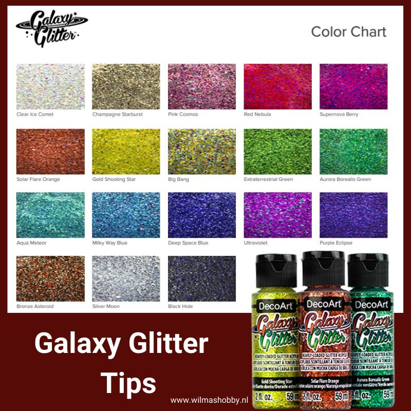 Galaxy Glitter Tips en weetjes