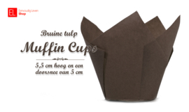 Muffin Cups Tulp Bruin, 85 mm