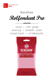 Rolfondant - Renshaw - 250 gram - Roze